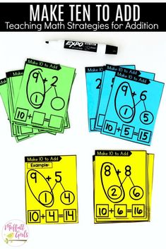 Make 10 and Add: This fun 1st Grade Math activity helps students practice addition in a hands-on way!