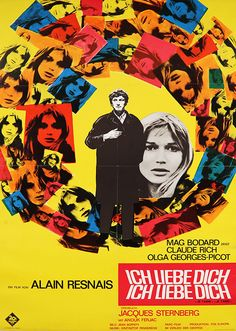 """Movie Poster of the Week: Alain Resnais' """"Je t'aime, je t'aime"""" on Notebook   MUBI"""