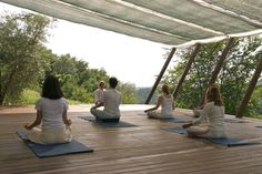 open yoga deck