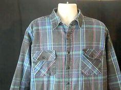 Coleman  Mens XL Insalated Flannel Shirt Multi Color Cotton Nylon #coleman #ButtonFront