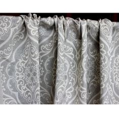 Grey Elegance Story Grommet Lined Curtain in by FabricMart on Etsy