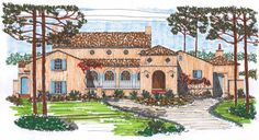 Italianate House Plan with 3596 Square Feet and 3 Bedrooms(s) from Dream Home Source | House Plan Code DHSW54961