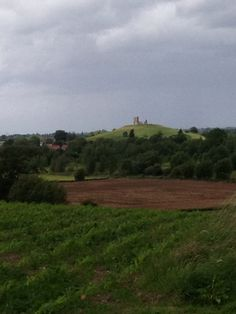 The view of Burrow Mump from Walkers Farm