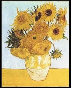 Vincent van Gogh. Sunflowers. Arent they beautiful.