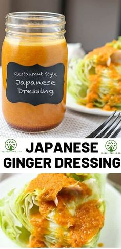 Japanese Restaurant Style Ginger Salad Dressing This iconic and delicious Japanese Restaurant Style Ginger Dressing Recipe will transport your taste buds to Shibuya! Ready in 10 minutes from start to finish. Ginger Salad Dressings, Salad Dressing Recipes, Vegetarian Recipes, Cooking Recipes, Healthy Recipes, Tofu Recipes, Fudge Recipes, Potato Recipes, Crockpot Recipes