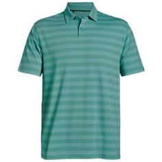 Under Armour Charged Cotton Scramble Stripe Golf Polo for Men - Azure  Teal Neo Turquoise 2269655948c3e