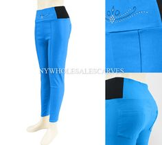 Solid Color Jeggings CY-215-2 Turquoise