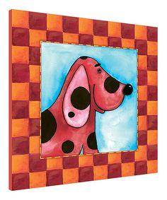 Loving this Red Checker Dog Wall Art on #zulily! #zulilyfinds
