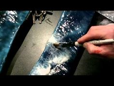 ▶ Chris Flodberg model water - Applying cotton wake pattern - YouTube