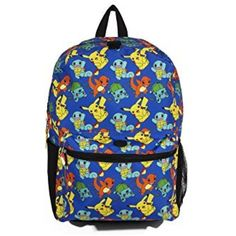 This Pokémon all over print backpack is perfect for the true Pokémon fan.  This backpack is fully functional as it has a large front. 1fca76c9ab374
