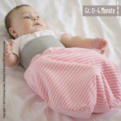 Freebook Strampelsack, Größe 0 - 6 Monate
