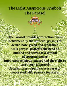 The Eight Auspicious Symbols of Buddhism - Parasol