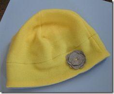 fleece hat.  might try to make it of felt.