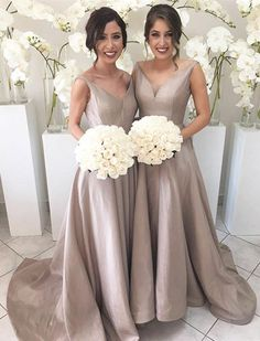 2016 long champagne bridesmaid dress, prom dresses, champagne prom dresses, long bridesmaid dresses with train, party dresses