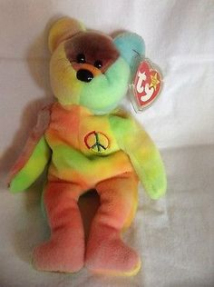 Rare Ty Beanie Baby Peace Bear 1996 Original Collectible with Tag Errors  Beanie Baby Bears 0ef88b264cc5