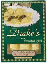Drake's Pasta - Portobello Mushroom Ravioli    Dinner is SERVED!