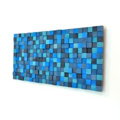 Wall Sculpture  Aqua Marina by TateLowe on Etsy, $365.00