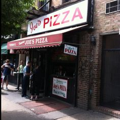 In the West Village, the original Joe's pizza (made famous - again recently) in the Spider Man film). It was famous to NYers long before...