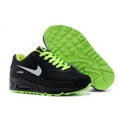 new product ff0f3 5a7b1 White Nike Air Max 90 Kids Tpu Kpu Shoes Black Green