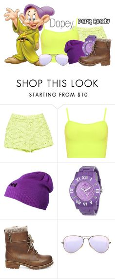 """Dopey~ DisneyBound"" by basic-disney ❤ liked on Polyvore featuring Ermanno Scervino, WearAll, Helly Hansen, Steve Madden and Ray-Ban"