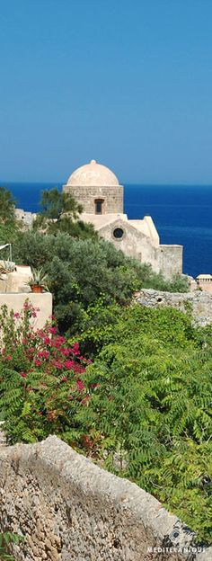 A Byzantine church in Monemvasia, Greece. For luxury hotels in Monemvasia visit… Byzantine Architecture, Architecture Design, Monemvasia Greece, Travel Around The World, Around The Worlds, Corinth Canal, Myconos, Greek Isles, Greece Islands