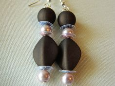 Brown and Pink dangle Earrings