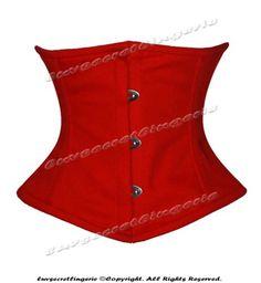 Corset ~  Full-Steel-Boned-Waist-Cincher-Cotton-Underbust-Burlesque-Shaper-Corset-8079-TC