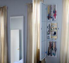 IKEA Hack: How to Make the Ultimate Jewelry Storage Solution - colgar la bijoux atras de un espejo! IKEA Hack: The Ultimate Jewelry Storage Solution - Hack Ikea, Ikea Closet Hack, Closet Hacks, Jewelry Storage Solutions, Diy Storage, Storage Ideas, Jewelry Organizer Ikea, Storage Mirror, Organization Ideas