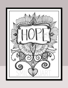 Christmas Zentangle Coloring Pages Copy Hope Printable Motivational Quotes