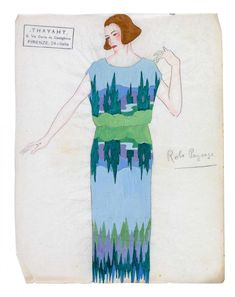* Robe Paysage Madeleine Vionnet - dessin Thayaht Madeleine Vionnet, Marie Madeleine, Fashion Design Sketches, See Images, Tarot, Stationery, History, Drawings, Instagram Posts