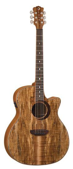Luna Woodland Acoustic Electric Guitar.