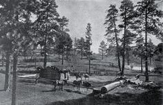 """William Henry Jackson image of """"Hance's Stage Stop and Permanent Camp,"""" 1892."""