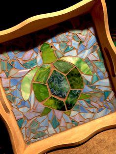 Sea turtle serving tray Mosaic_mom@yahoo.com