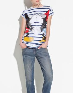 'MICKEY'Tシャツ - Tシャツ - TRF - ZARA 日本