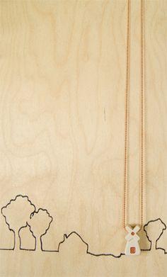 dutch designer jenna postma's simple jewelery windmill necklace
