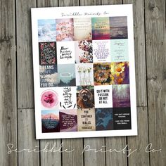 Printable Planner Stickers PDF // Tumblr Inspiration (Perfect for Erin Condren Planners)