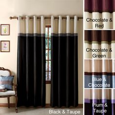 Keep light out of your room when you're sleeping with this blackout curtain panel. The panel also helps to keep your room quieter so that you get a better rest, and keeps the temperature more even for your comfort. It's made of polyester for durability.