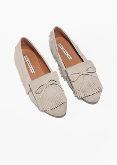 & Other Stories | Fringed Suede Slippers