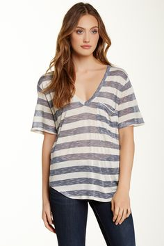 Nation LTD | Nation LTD Lake Tahoe Deep V-Neck Tee | HauteLook
