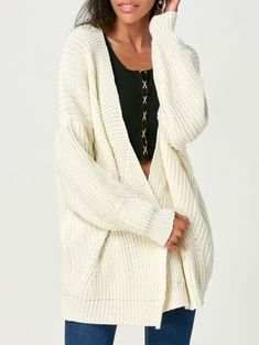 RoseGal.com - RoseGal Open Front Chunky Cardigan Sweater - AdoreWe ...