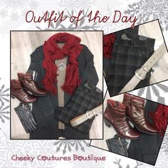 Plaid Scarf, Outfit Of The Day, Couture, Boutique, Clothing, Outfits, Shopping, Fashion, Today's Outfit