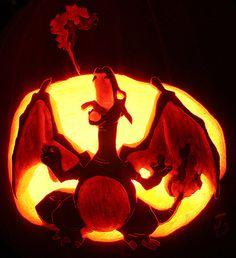 Charizard pumpkin carving