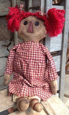 Annabel Primitive Rag Doll by BeaverBoutiquePrim on Etsy