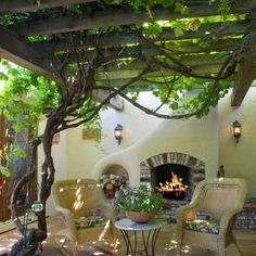 Grapevine Arbor Design Ideas, Pictures, Remodel, and Decor. Nod to my middle eastern roots :)