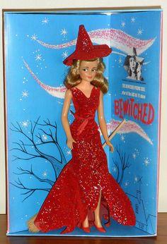Ideal Bewitched Samantha by Childhood Toys, Childhood Memories, Vintage Barbie, Vintage Dolls, Old Barbie Dolls, Bewitched Elizabeth Montgomery, Barbie Halloween, Dawn Dolls, Barbie World