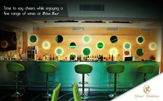 Time to say cheers while enjoying a fine range of wines at Bliss Bar  #GrandResidence #GrandResidencePorur #Porur #Chennai #Hotel #Cocktails #Bar