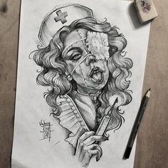 та quando o piercing inflama - Piercing Dibujos Tattoo, Desenho Tattoo, Tattoo Sketches, Drawing Sketches, Cartoon Drawings, Art Drawings, Tattoo Video, Oldschool, Chicano Art