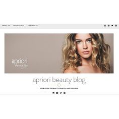 "New!! AprioriBeautyBlog.com  As a pre-cursor to the new website, Apriori Beauty introduces the Apriori Beauty Blog — Your Guide to Beauty, Health and Wellness! Watch for articles with tips and information you'll want to share on social media to enhance your beauty dialogue with Clients. Be sure to click to ""Follow"" this blog to get notifications as new articles are posted."