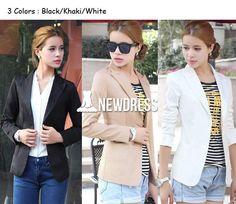 New Women's European Style OL Wear to Work Stylish Suit Jacket Coat