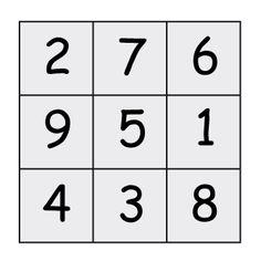 Le carré magique - Solution